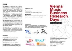 Vienna Music Business Research Days Flyer